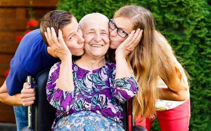 A hora da gratidão para co os idosos