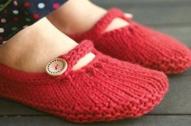 frio e inverno - botinhas de lã e crochê