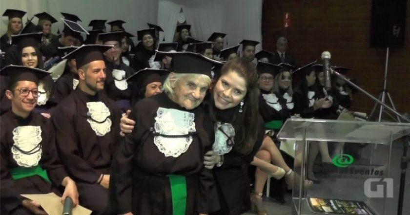 aos 87 anos ela se formou em nutrição
