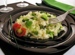 risoto com brocolis