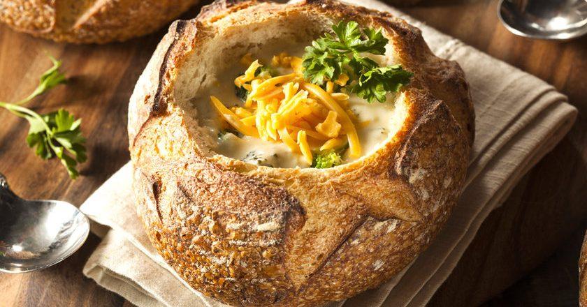 sopa no pão italiano para idosos