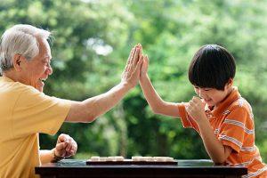 Jogos de tabuleiro com os netos