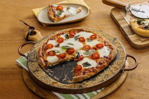 pizza de muçarela com burrata