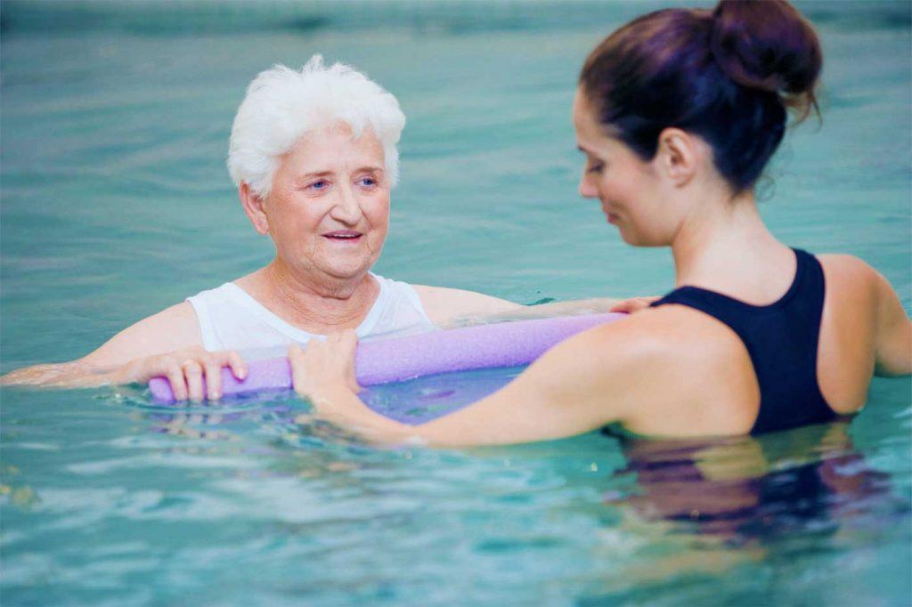 Hidroterapia para os idosos
