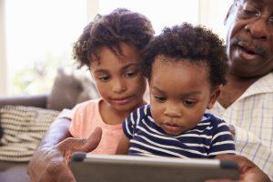 amor e carinho com os netos