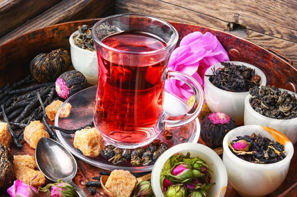 o chá e as suas cores