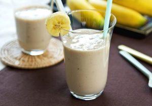 vitamina de coco com banana
