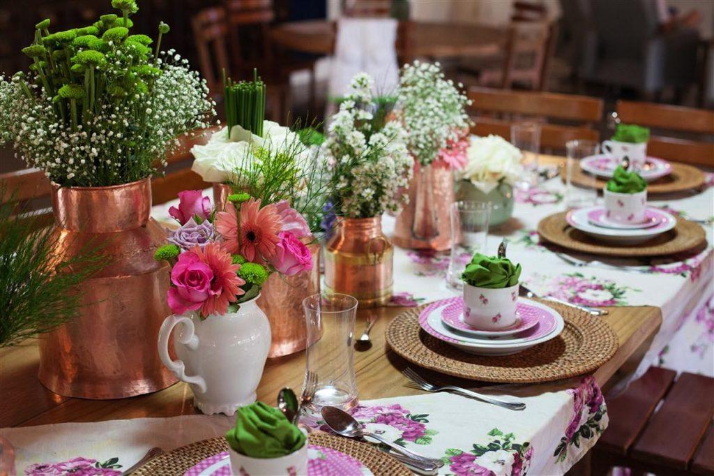 mesa de café da tarde