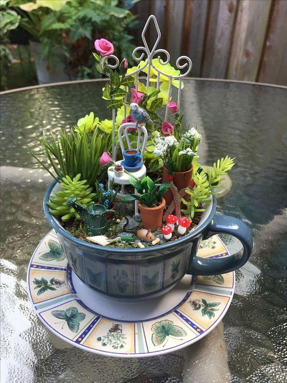 mini jardim para idosos