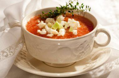 sopa fria no verão