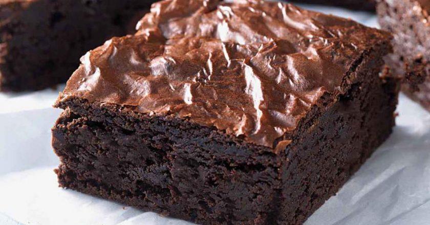 brownie de chocolate para terceira idade